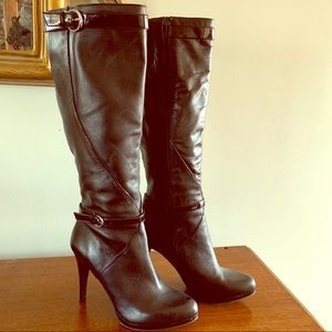 Nine West Tall Leather Boots Size 6.5 M